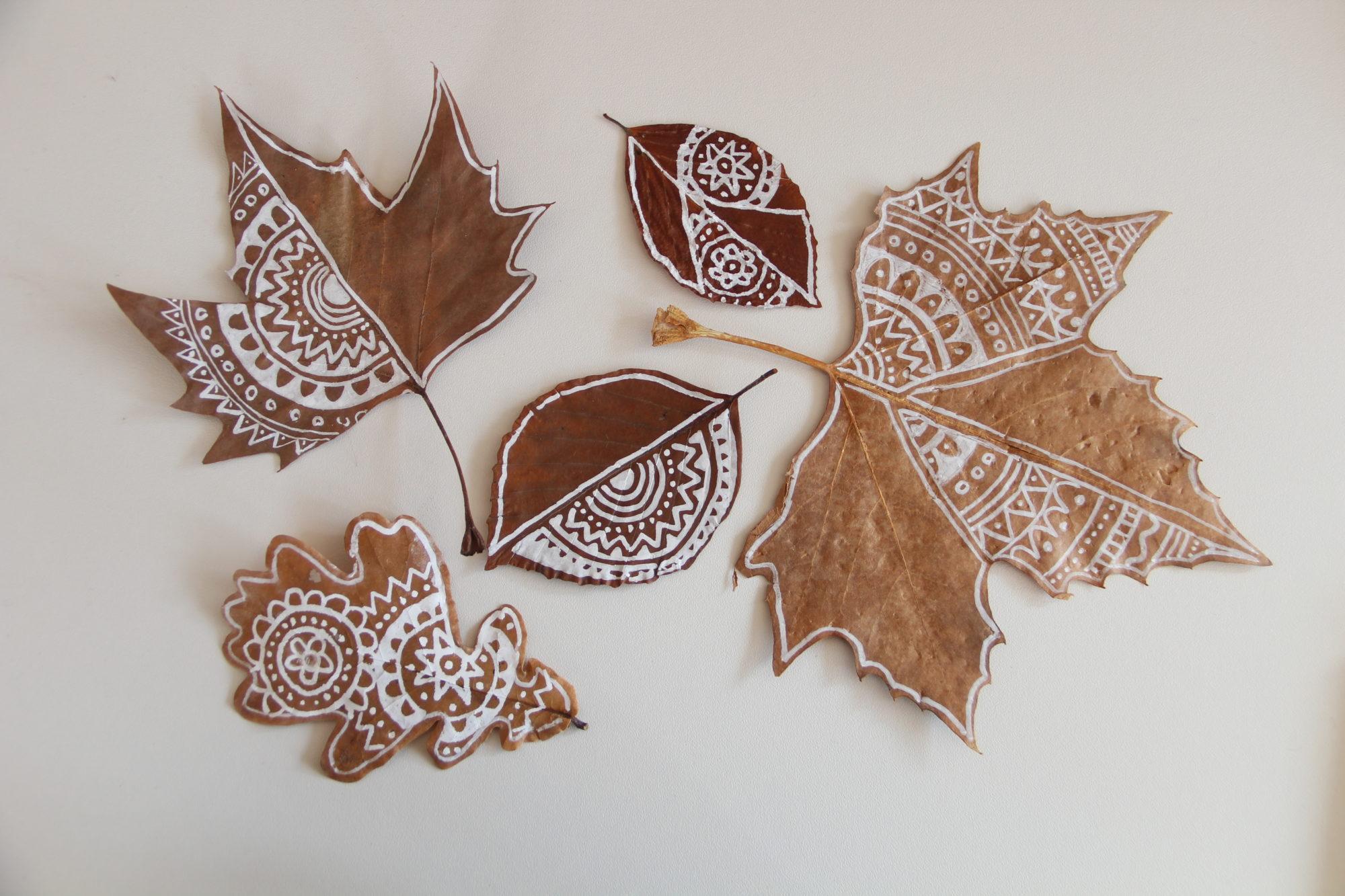 Mandala Herbstblätter