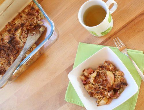 Apfel-Rhabarber-Crumble (vegan, zuckerfrei)