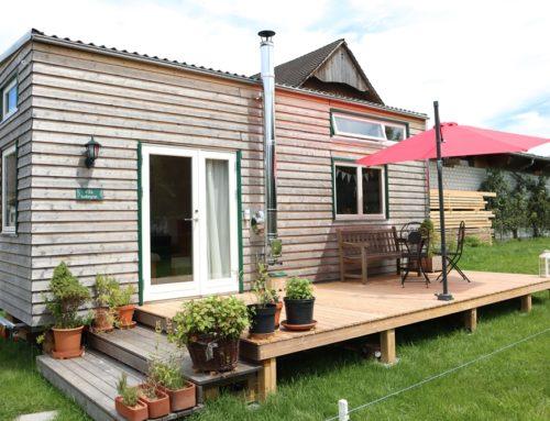 Tiny House Beschattung – Sommer, Sonne, Sonnenschirm