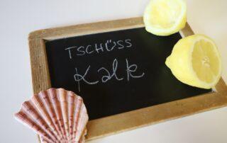 Zitrone und Muschel Kalk entfernen