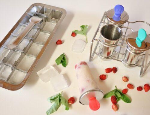 Zero Waste & plastikfrei Eiswürfel und Eis am Stiel selber machen (+Rezepte)