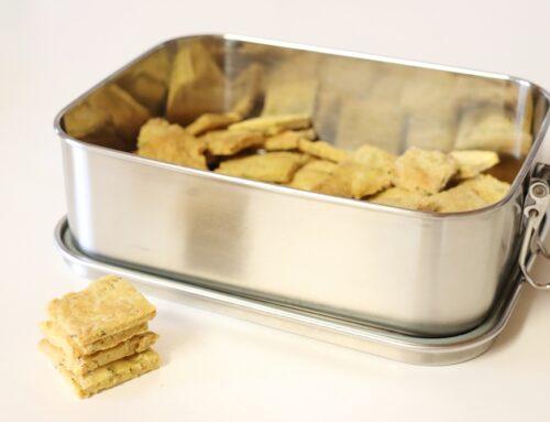 Dinkel-Cracker selber backen (vegan, zero waste)