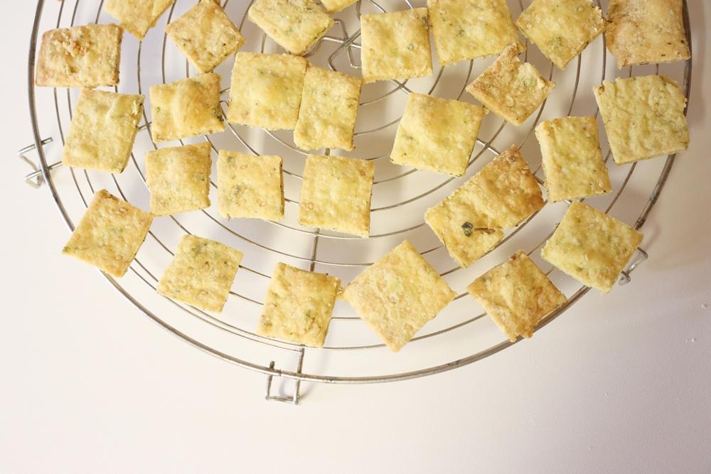 Dinkel-Cracker selber backen vegan zerowaste